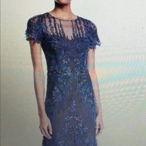 David Meister mesh and embroidered DRESS